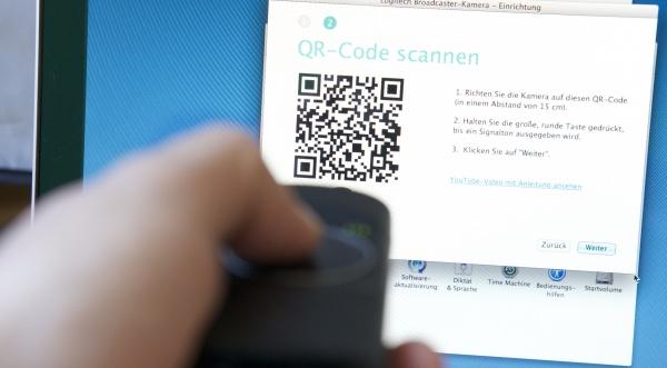 QR-Code scannen mit der Broadcaster WiFi Camera