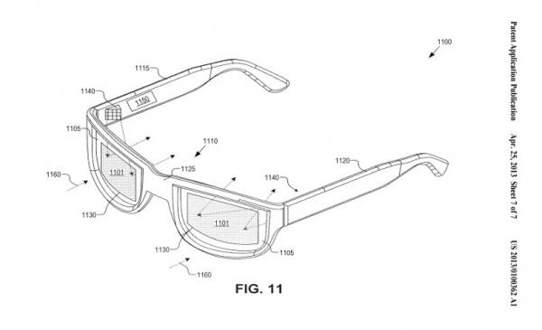 AR-Brille Google Patent vom 25.04.2013