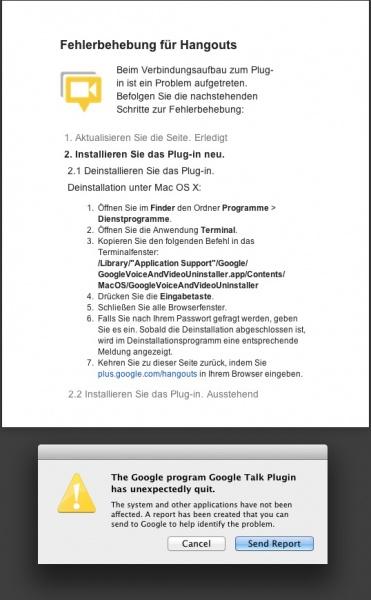 Google Talk Plugin FAIL