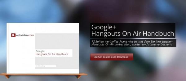 Hangout on Air Handbuch