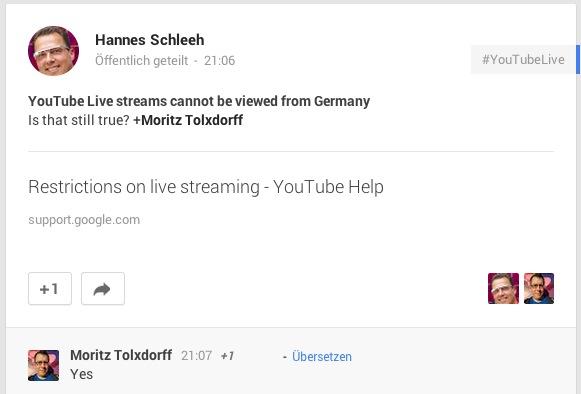 Deutschland Livestream Ausschlußgebiet