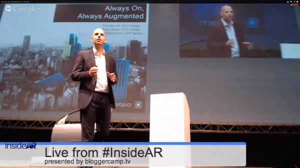 Keynote InsideAR 2013 mit Dr. Thomas Alt