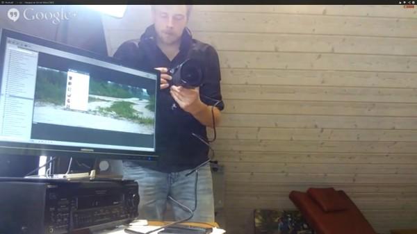Nikon D800 im Hangout on Air