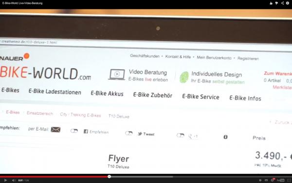 Screenshot E-Bike-World YouTube Video