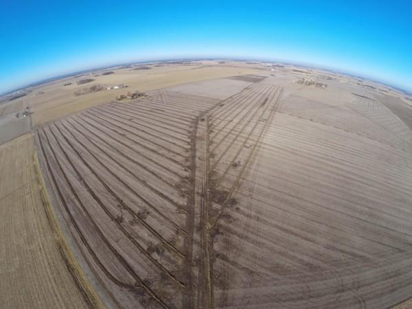 Luftaufnahme von Drainagen Foto: Brian Scott http://thefarmerslife.com/