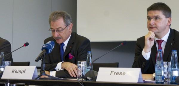 CeBIT 2014 BITKOM Präsident Prof. Dr. Kempf und Messe-Vorstand Frese