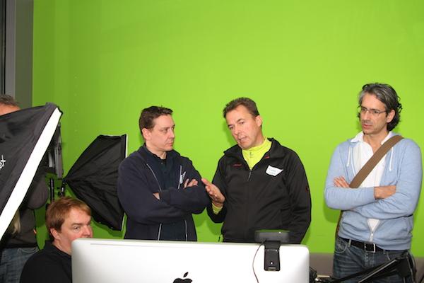 Streamcamp 2013 im Greenscreen Raum mit Boinx TV