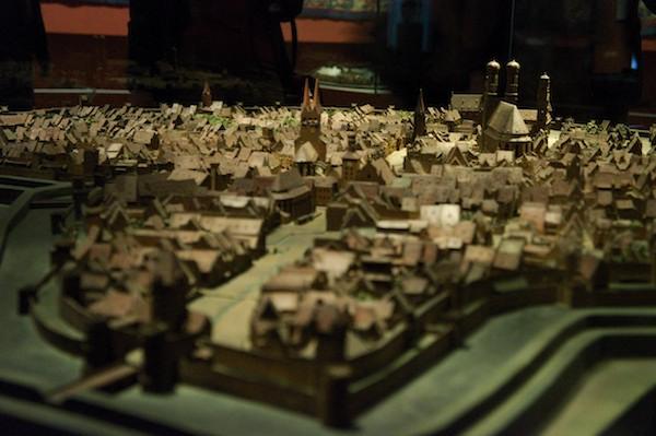 Modell der Stadt München aus dem Mittelalter