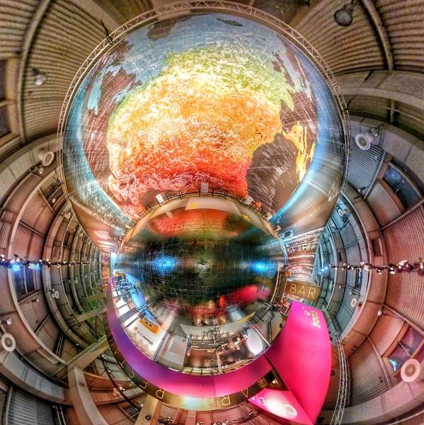 Tiny Planet aus einer Photosphere Aufnahme in der CODE_n Halle auf der CeBIT 2014