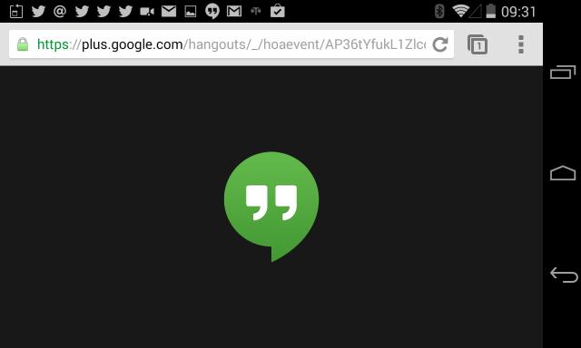 Hangout on Air startet direkt am Android Smartphone