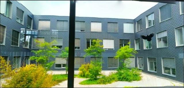 Innenhof des Existenzgründerzentrums in Ingolstadt