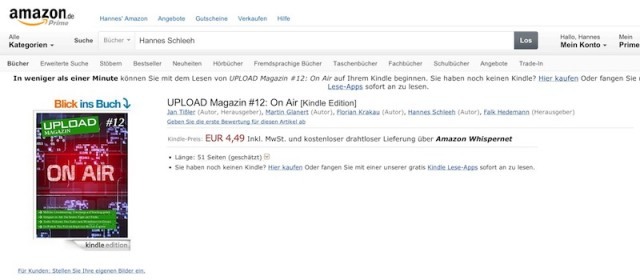 Upload Magazin 12 On Air bei Amazon