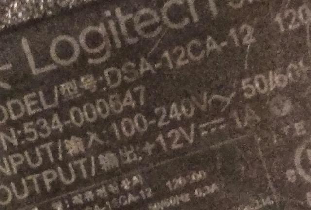Netzteil Output Logitech ConferenceCam CC 3000e 12 Volt 1 Ampere