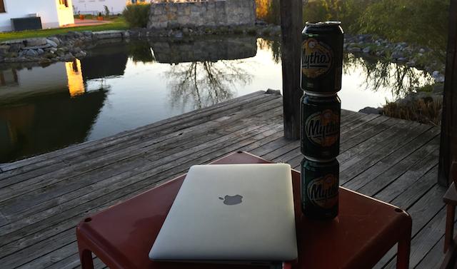 Drei Bierdosen Hangout on Air am Schleeh See