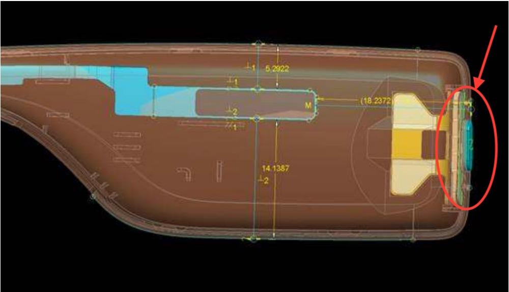 Ein- Ausschaltknopf Google Glass 2.0