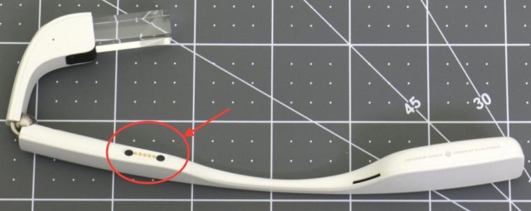 Vierpoliger Anschluß mit Magneten an der Google Glass 2.0